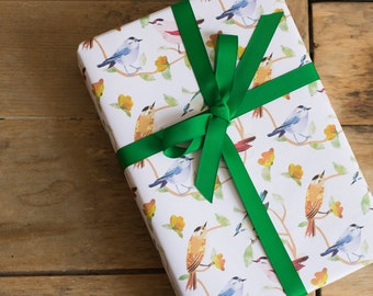 Jewel Birds Wrapping Paper - 100% Recycled