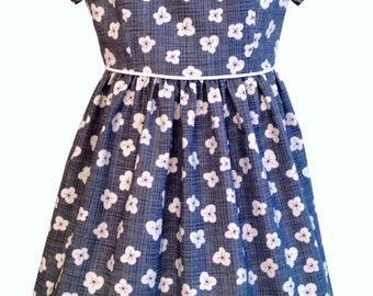 Girls Dress PATTERN, The Vintage Kate Dress, sizes included to fit ages 2-6, instant digital download, photo tutorial included