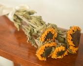 Dried Sunflowers, dried sunflower, sunflower dried, sunflower wedding decor, fall wedding, do-it-yourself wedding, yellow dried flowers