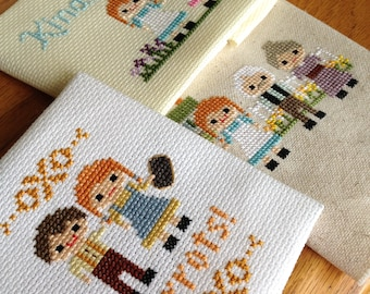 Anne of Green Gables Cross Stitch 3 Pack- Anne of Green Gables inspired parody- PDF Instant Digital Download