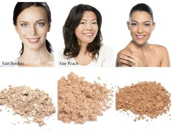 Sweatproof, Natural Mineral Foundation - Light Complexion Choices - 95% Vegan Makeup, Loose Mineral Powder, Makeup for Acne &.Sensitive Skin