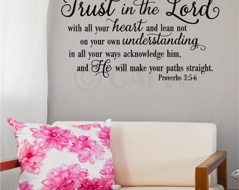 Trust in The Lord (NEW) vinyl wall decal