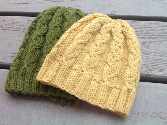 Cable Knit Hat Pattern Pattern for Knitted Hats Knitting Hat