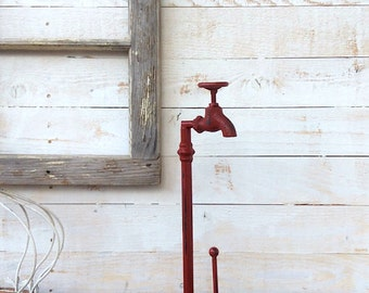 Metal Paper Towel Holder, Faucet Metal Kitchen Decor, Country Home, Housewarming Gift for Mom