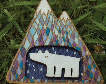 The Bear Went Over The Mountain brooch