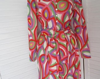 Dress, Multicolor from 70s by Leslie Fay - Size M