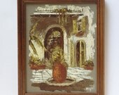 Myrl D'arcy Original Vintage Oil Painting, New Orleans, French Quarters, Small Framed Art