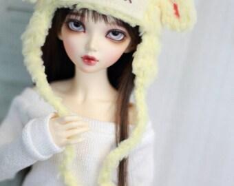Fairy Kei Lamb Hat for Minifee BJD, 1/4Doll, Size 7 Sheep Hat BJD Clothing