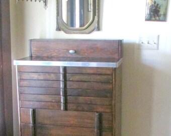 Vintage Medical Cabinet Dental Furniture 10 Drawer Bathroom Storage  Entryway Great Bar Art Deco