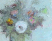 """Mixed Media Original Still Life Floral Painting, """"Sunday Morning, Go For A Ride"""" - 16 x 20"""