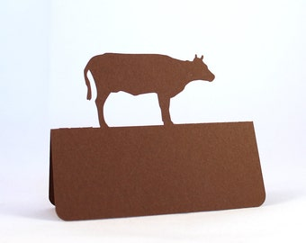 Cow Place Cards Beef Set of 50 Meal Choice Wedding