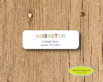 Customized Return Address Labels  - Custom Return Address Labels, Self-adhesive Address Stickers, Personalized Address Labels with last name