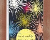 Fireworks Wonderful New Year Cards (10/box)