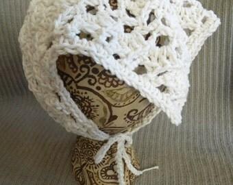 Neck Kerchief, Tie On Bonnet, USA Grown Cotton Summer CLEARANCE EVENT