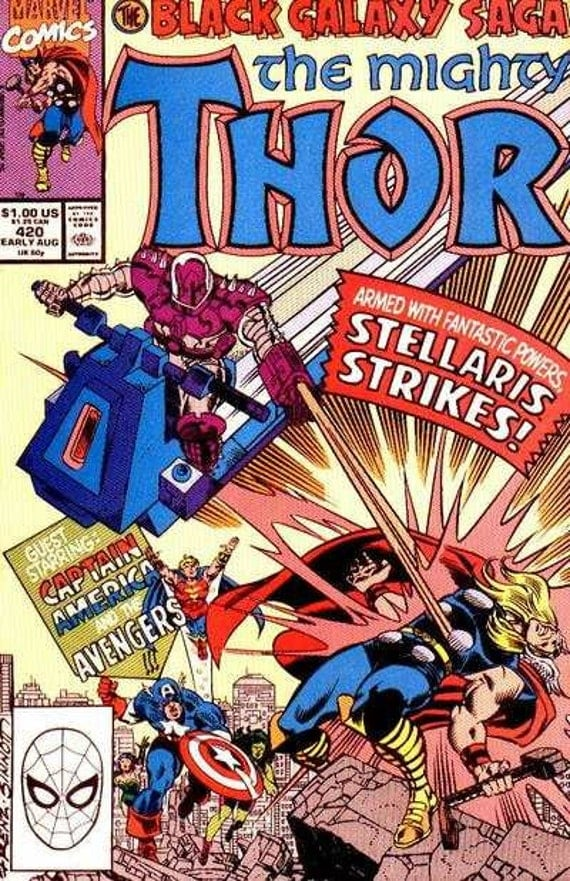 Issue #420 The Mighty THOR Comic Book in VF-NM Condition