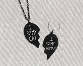 BFF pendant set for you and your cat