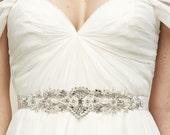 PAIGE Sash- crystal sash, rhinestone sash, wedding sash, bridal belt