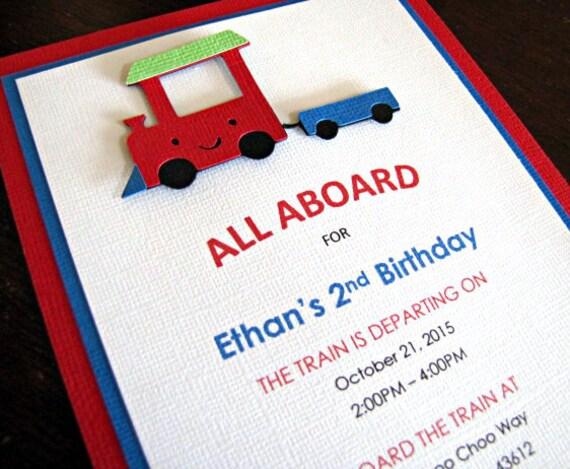 Train Party Invitations Train Birthday Party Invitations Train