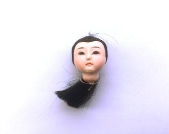 Japanese Doll Head - Vintage Doll Head -  Girl Doll Head - Small Doll Head - Woman Doll Head #1-3 Small Size