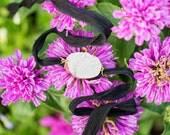 White Druzy Silk Wrap Bracelet, Druzy Bracelet, Druzy Bracelet, Bohemian Jewelry, Handmade, Gold, Black & White, Boho Glam Bracelet