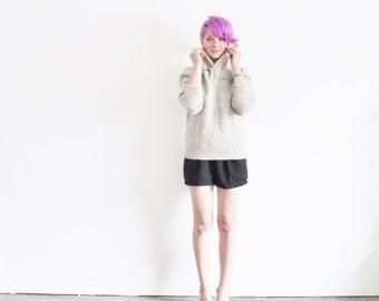 LL Bean wool sailor sweater . nautical soft pale gray .medium.large .sale