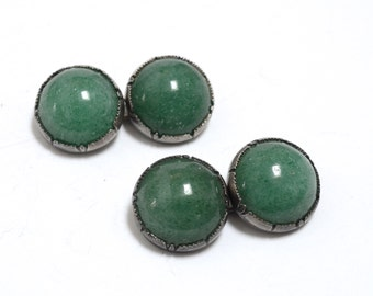 Art Deco Chinese Export Silver & Jade Cufflinks