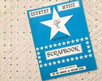 Vintage Country Music Souvenir Scrapbook (1968)