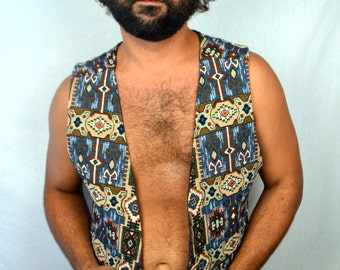 Vintage 80s 90s Geometric Vest