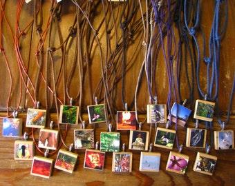 Photograph Anangram Necklaces - Adjustable length, Custom choice, Stocking stuffers, Original photography