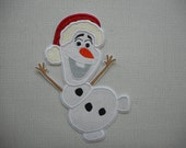 Free Shipping Ready To SHiP  Snowman Fabric Iron on Applique
