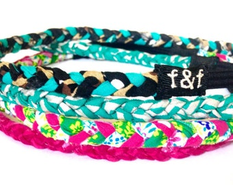 Fashion Headband, Faith and Fit Set of 4 Scrappy Bands Nashville