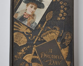 Antique 1884 Religious Story of A Dreadful Day for Children