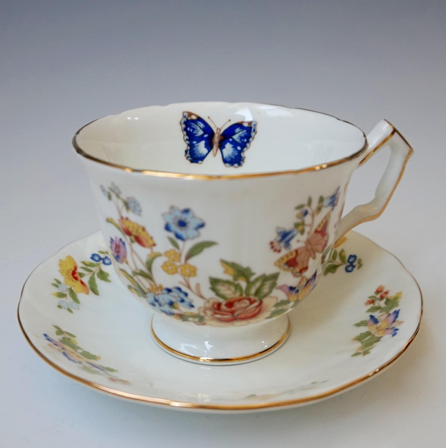 Aynsley Teacup And Saucer Cottage Garden By Recycleandrenew