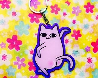 Sexy Sassy Kitty Acrylic Keychain,Accessory,Cute Keychain,Kawaii Keychain,Keychain Gift