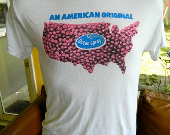 1980s Ocean Spray America vintage tee shirt soft and thin shirt size med/large