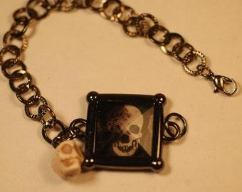 Halloween Charm Bracelet ,  Skull Charm Bracelet