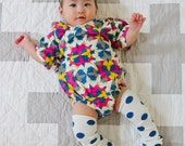 Baby Kimono Bodysuit - Southwest Kaleidoscope  - Baby summer outfit - cool baby clothes japanese jinbei