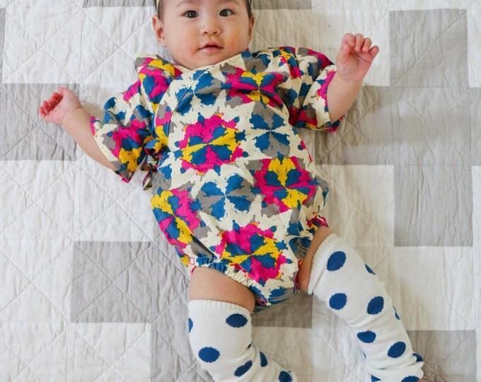 Japanese Baby Kimono - Southwest Kaleidoscope  - Baby Bodysuit - Jinbei Onesie for Baby Toddler