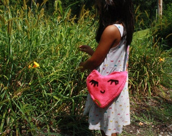 Love Heart Purse-Kids Purse-Doll Purse