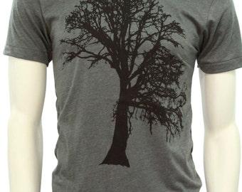 Oak Tree| Soft lightweight men's T Shirt| art by MATLEY| unisex tee| Gift for him and her| Tree hugger| Oak tree| crew & Vneck tee.