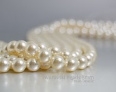 Swarovski Pearls, Ivory Pearls in 8mm Round Pearl Beads, 250 Pcs Crystal Cream, Glass Pearls, Bridal Pearls Elements 5810
