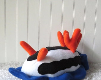 Little Sea Slug, Nudibranch Plush, Chromodoris Africana, Pyjama Slug
