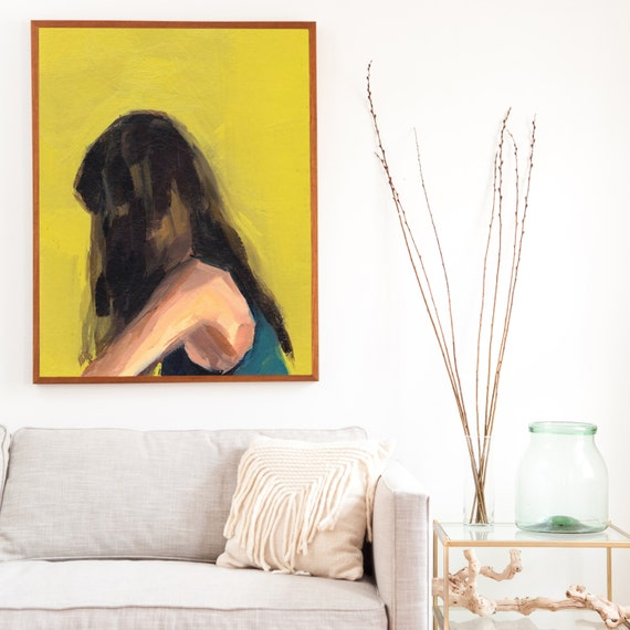Portrait in Yellow . giclee art print