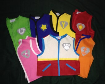 Paw Patrol cotton twill vests, birthdays, Halloween, everyday wear