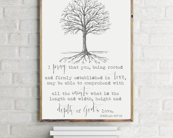 Art Print Inspirational Rooted Tree
