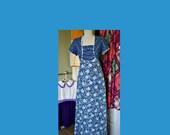 Vintage 70s Princess Kaiulani maxi dress - adorable ric rac around the bodice and sleeves