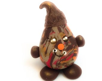 Fall Acorn Parker - Polymer Clay Character Figurine