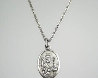 Saint Nicholas Medal Necklace
