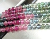 Beautiful Watermelon Tourmaline Micro Faceted Round Beads,AA-AAA, 3.5mm, 1/2 strand - a15-2