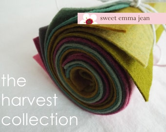 9x12 Wool Felt Sheets - The Harvest Collection - 8 Sheets of Felt